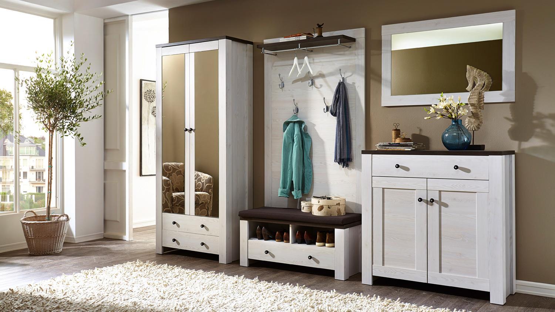 schuhbank antwerpen garderobenbank l rche pinie dunkel. Black Bedroom Furniture Sets. Home Design Ideas