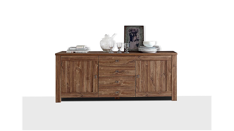 sideboard br ssel kommode anrichte in akazie dunkel. Black Bedroom Furniture Sets. Home Design Ideas