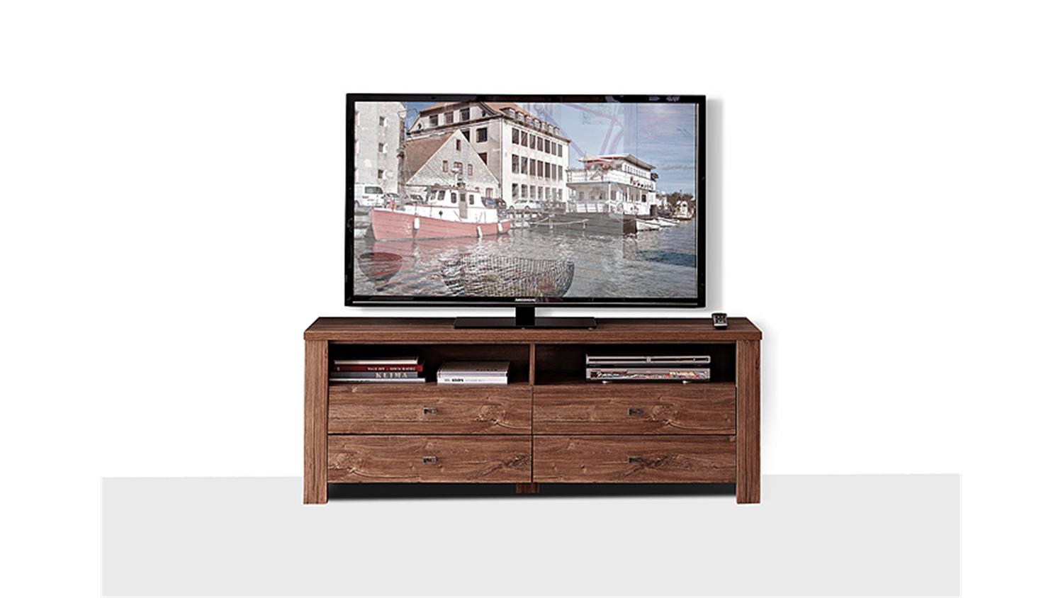 tv board br ssel tv unterteil lowboard in akazie dunkel. Black Bedroom Furniture Sets. Home Design Ideas
