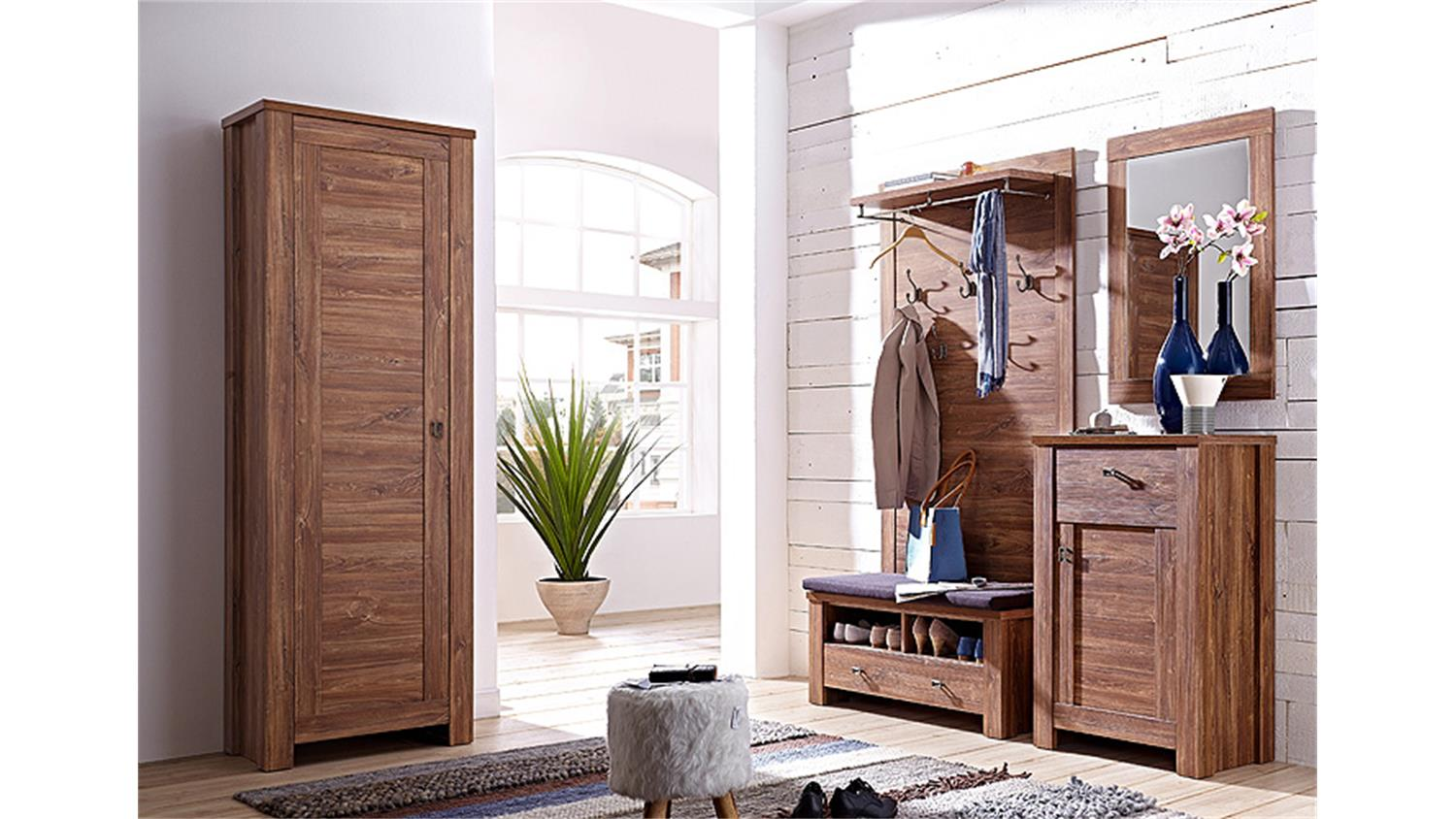 garderobenschrank br ssel garderobe schrank akazie dunkel. Black Bedroom Furniture Sets. Home Design Ideas