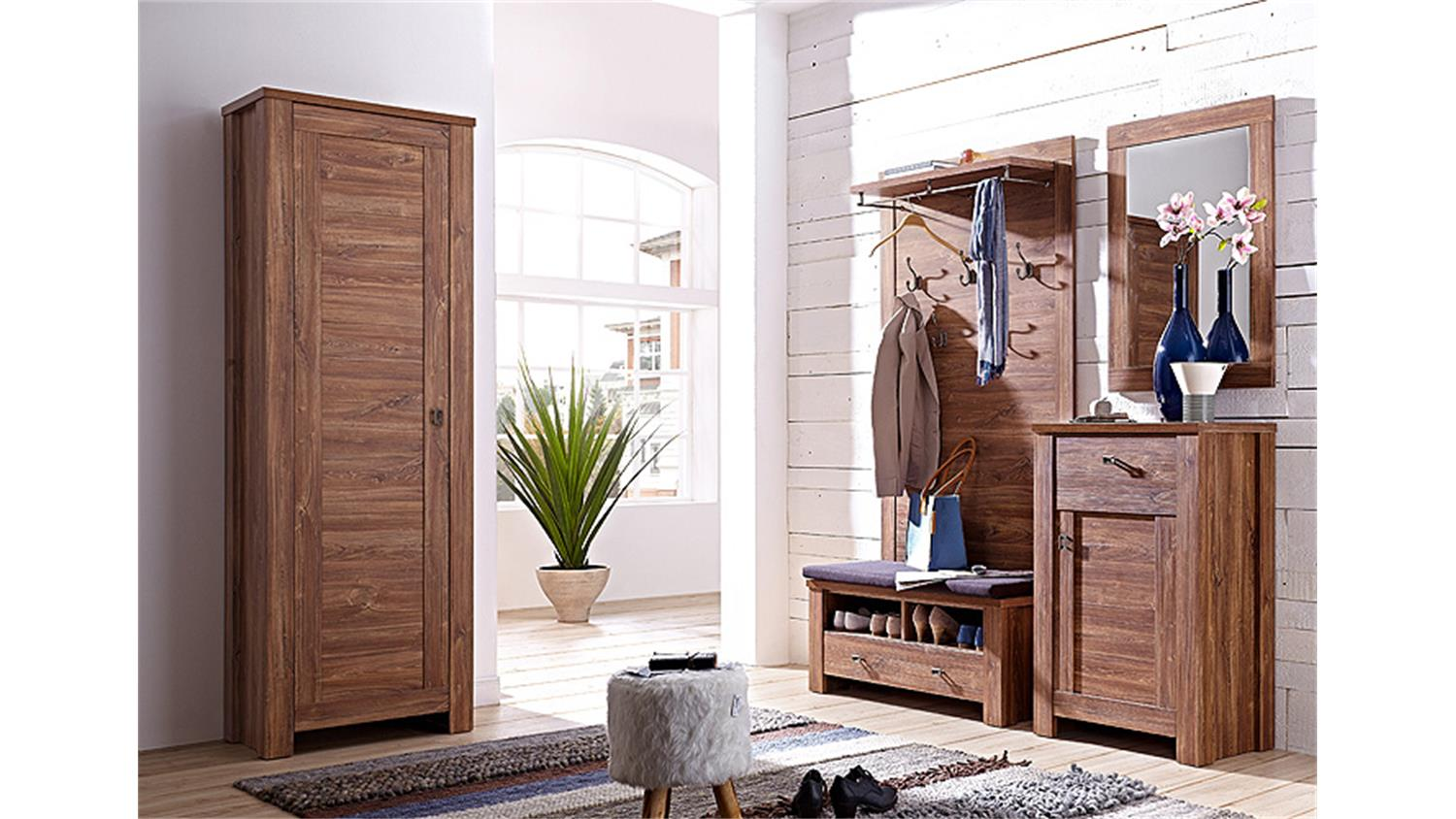 garderobenpaneel br ssel garderobe paneel akazie dunkel. Black Bedroom Furniture Sets. Home Design Ideas