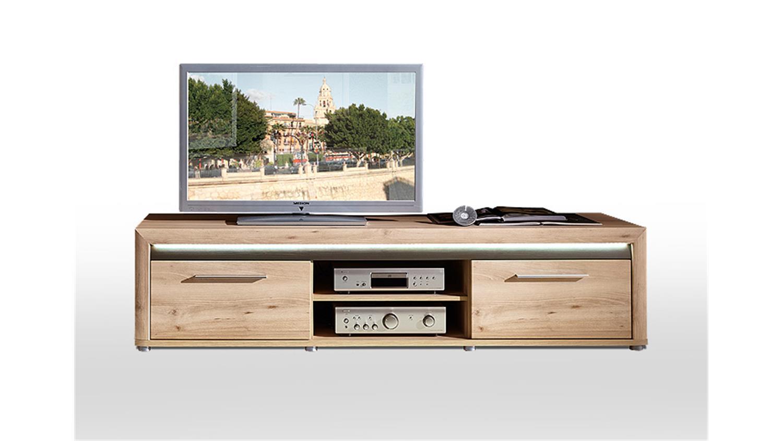 tv board run unterschrank lowboard buche hell inkl led. Black Bedroom Furniture Sets. Home Design Ideas