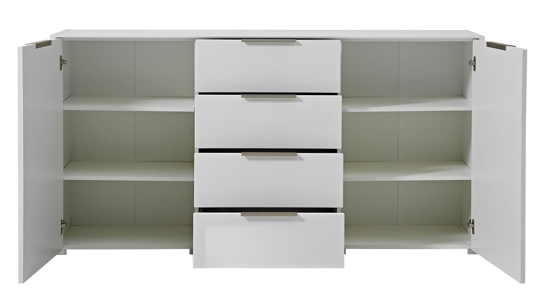 sideboard median kommode anrichte in wei hochglanz 180 cm. Black Bedroom Furniture Sets. Home Design Ideas