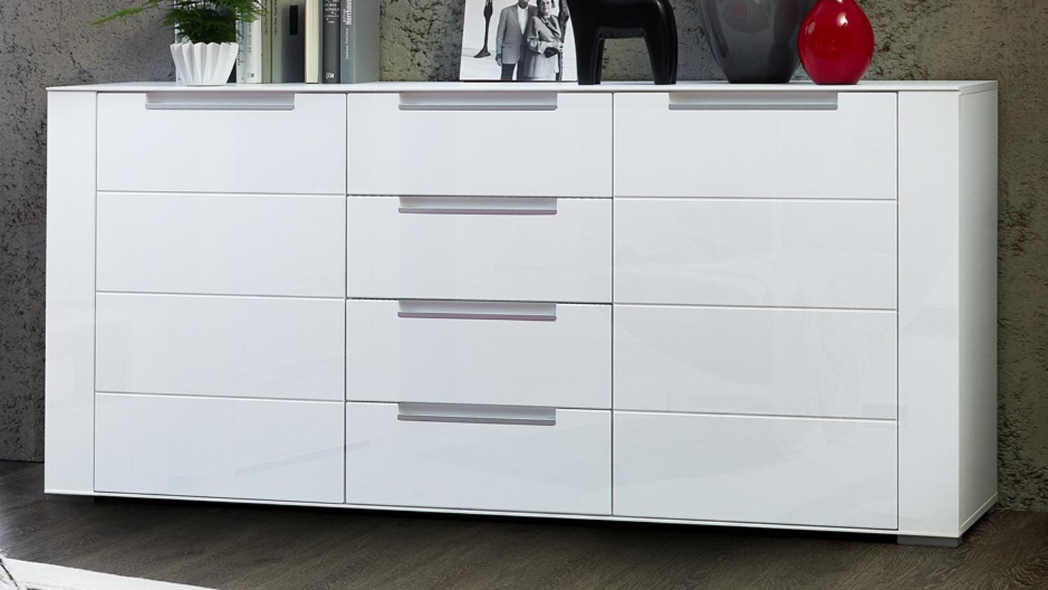 Sideboard dinaro kommode anrichte in wei matt 170 cm breit for Sideboard kommode