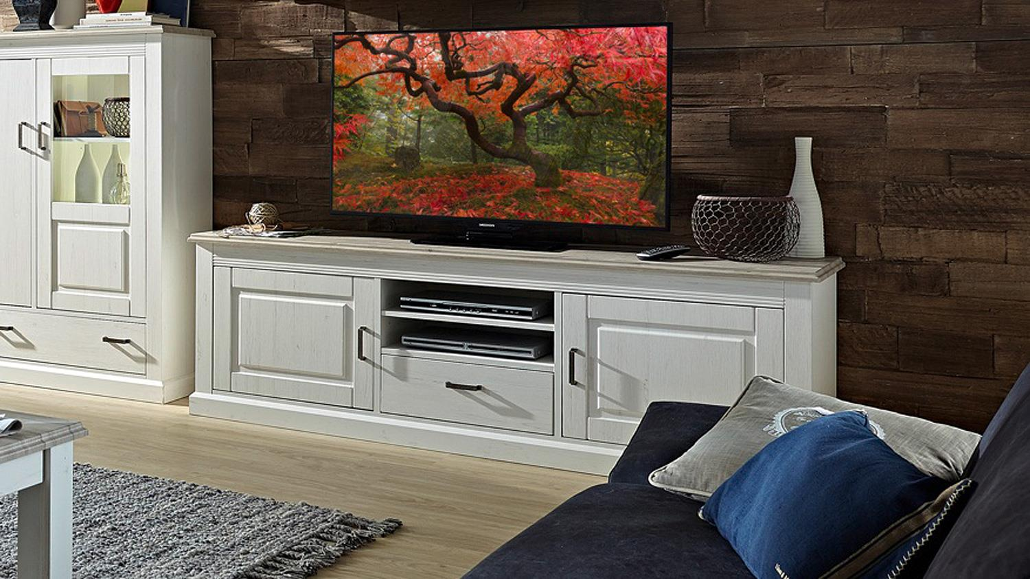 tv board lima lowboard unterschrank pinie hell taupe 200 cm. Black Bedroom Furniture Sets. Home Design Ideas