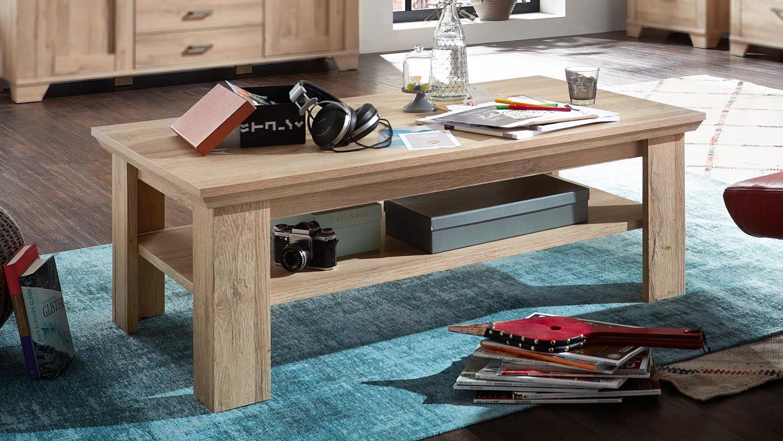 couchtisch bristol beistelltisch in gran oak hell mit ablage. Black Bedroom Furniture Sets. Home Design Ideas