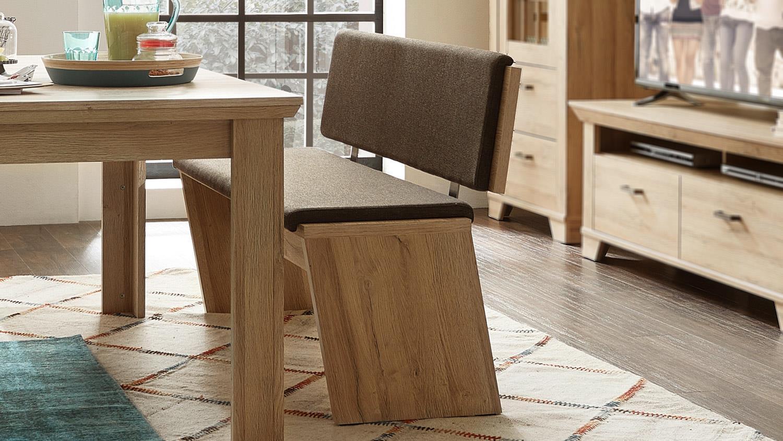 bank bristol sitzbank mit r ckenlehne in gran oak hell mit. Black Bedroom Furniture Sets. Home Design Ideas