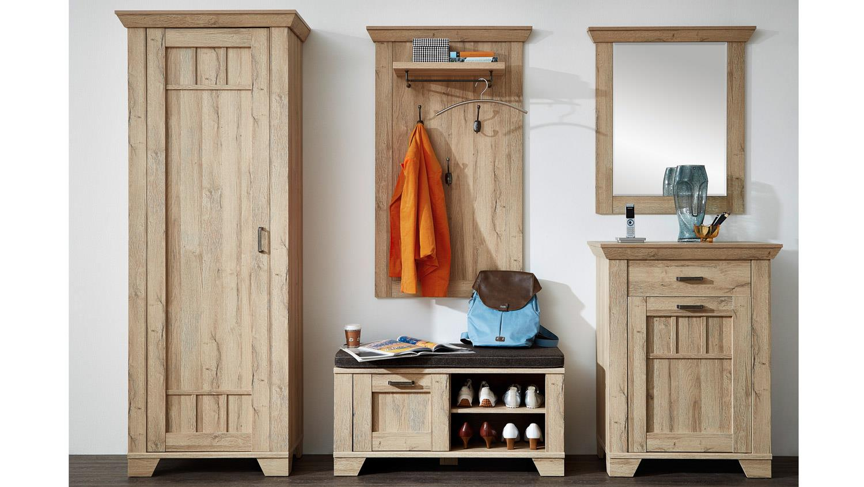 Garderobe bristol set flurm bel in gran oak hell for Garderobe x3