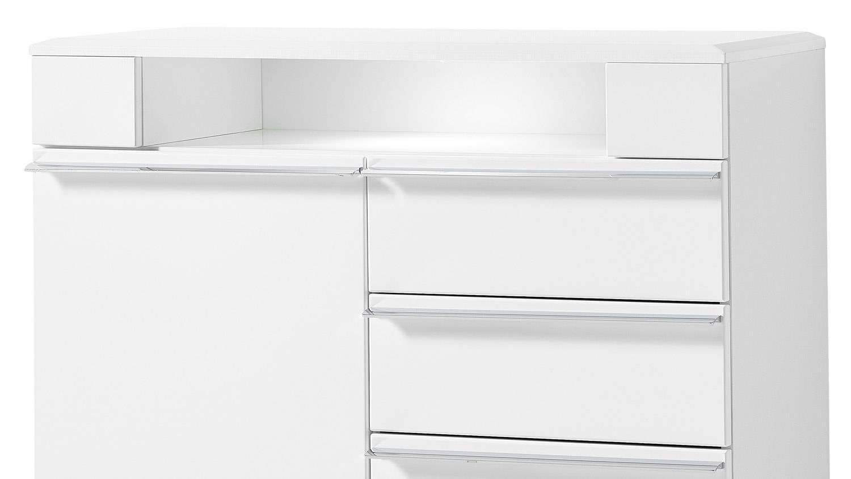 kommode solo 2 in wei matt inklusive led 100x90 cm. Black Bedroom Furniture Sets. Home Design Ideas