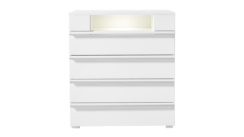 kommode solo 4 in wei matt inklusive led 80x90 cm. Black Bedroom Furniture Sets. Home Design Ideas