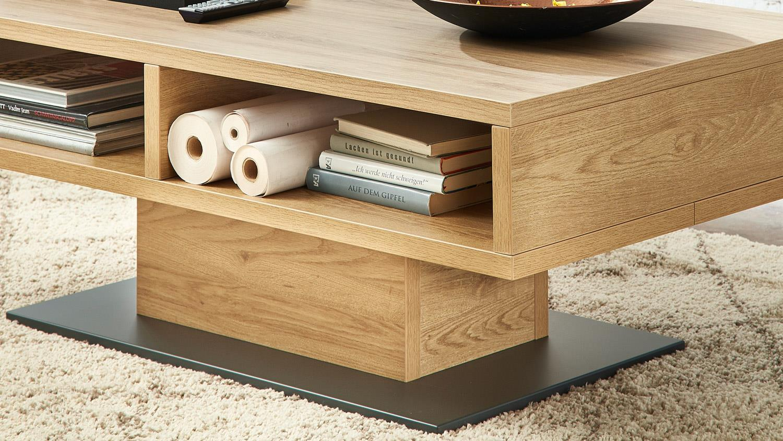 couchtisch bianco beistelltisch in wildeiche und graphit. Black Bedroom Furniture Sets. Home Design Ideas