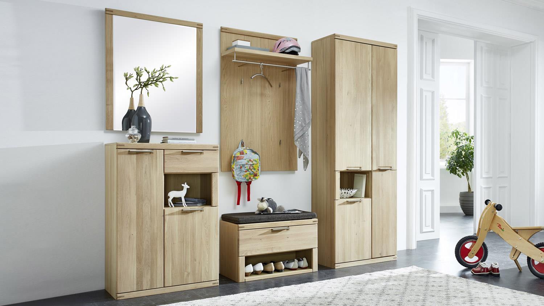 Schuhschrank Bianco Garderobe Kommode In Wildeiche Teilmassiv 70 Cm