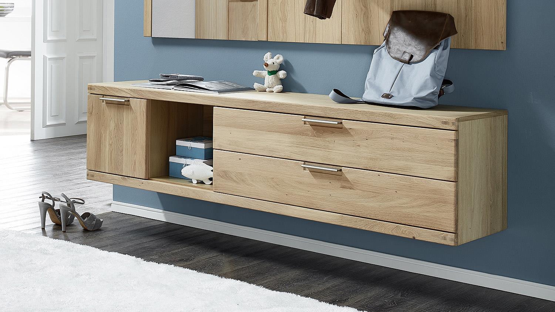 Lowboard Bianco Schuhschrank Garderobe In Wildeiche Teilmassiv 170