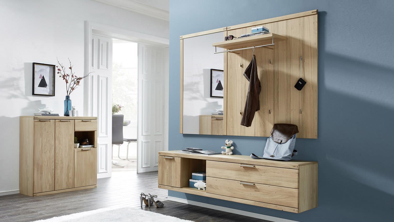 Schuhschrank Bianco Garderobe Kommode In Wildeiche Teilmassiv 100 Cm