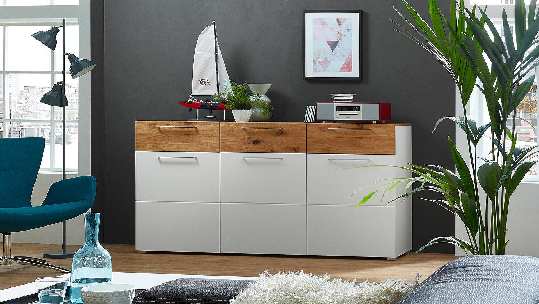 sideboard focus kommode anrichte f r wohnzimmer in wei. Black Bedroom Furniture Sets. Home Design Ideas