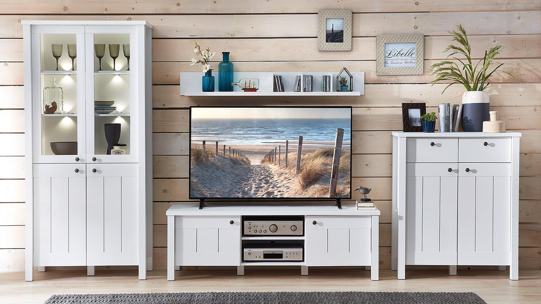 wohnwand 3 siena anbauwand wohnzimmer wohnkombi wei. Black Bedroom Furniture Sets. Home Design Ideas