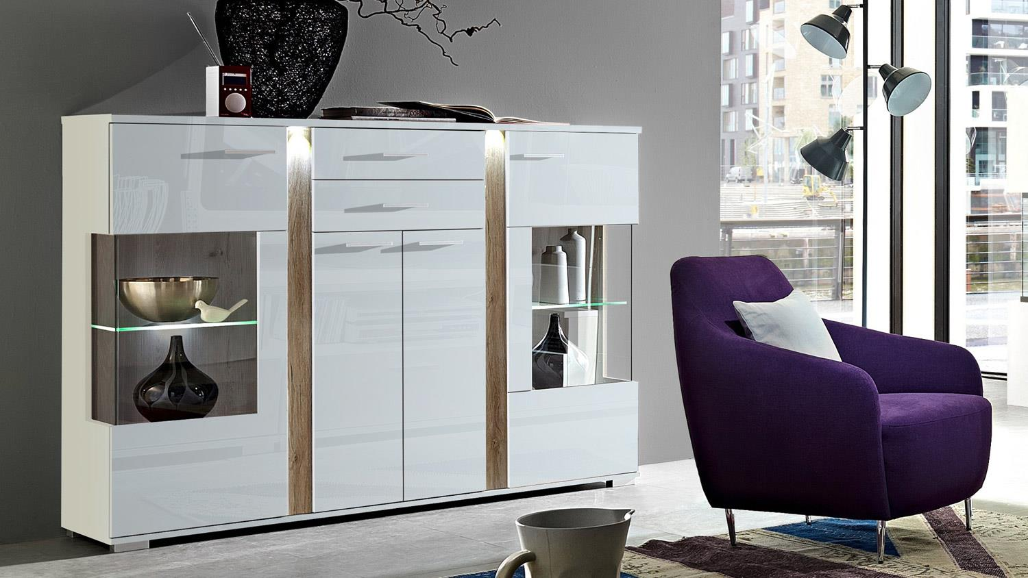 highboard wei hochglanz good highboard togo in weiss hochglanz schwarz glas sideboard with. Black Bedroom Furniture Sets. Home Design Ideas