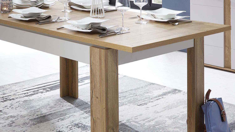 ausziehtisch spurt esstisch 140 180 cm in champagner wei. Black Bedroom Furniture Sets. Home Design Ideas