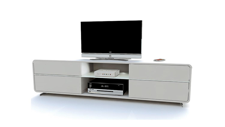 tv board cuuba curve m 18 2 wei hochglanz von jahnke. Black Bedroom Furniture Sets. Home Design Ideas