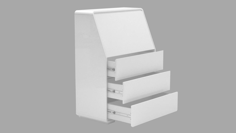 sekret r cuuba curve c 10 wei hochglanz lackiert von jahnke. Black Bedroom Furniture Sets. Home Design Ideas
