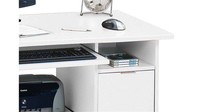 Schreibtisch Csl 220 Computertisch Bürotisch In Weiß Jahnke