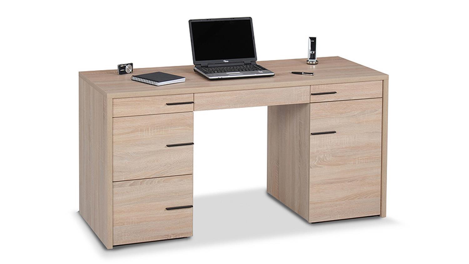 schreibtisch cl 150 sonoma eiche s gerau jahnke. Black Bedroom Furniture Sets. Home Design Ideas
