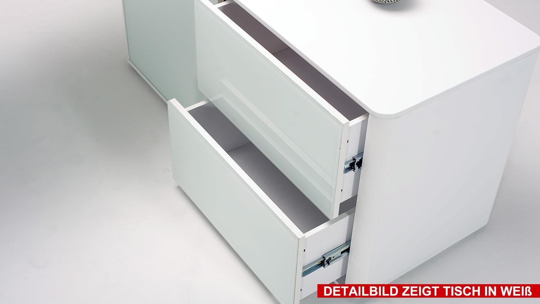 eckschreibtisch csl 465 e computertisch schwarz matt glas. Black Bedroom Furniture Sets. Home Design Ideas