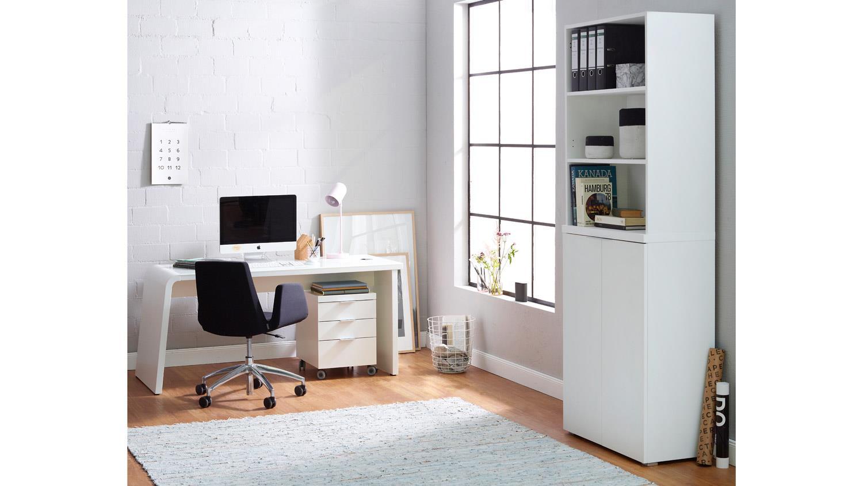 Aktenschrank CSL Büroregal Regal Büromöbel in weiß matt von JAHNKE
