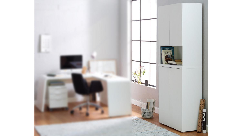 Büroschrank weiß matt  CSL Büroschrank Schrank Büromöbel in weiß matt von JAHNKE