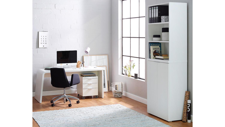 schreibtisch csl computertisch b rom bel wei matt mit glas von jahnke. Black Bedroom Furniture Sets. Home Design Ideas