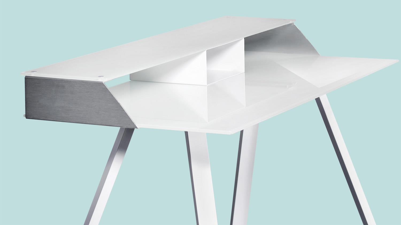 schreibtisch smart work computertisch laptoptisch wei. Black Bedroom Furniture Sets. Home Design Ideas