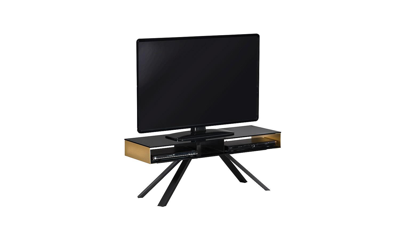 Tv Board Smart Lowboard Tv Kommode Mit Schwarz Glas Und Kupfer 110