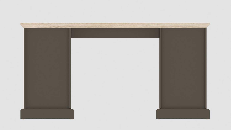 Schreibtisch classik desk 150 wildeiche cashmir grau von for Schreibtisch wildeiche