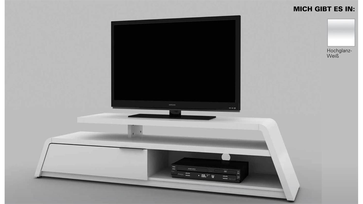 design tv lowboard cu culture m 180 hochglanz weiss von jahnke. Black Bedroom Furniture Sets. Home Design Ideas