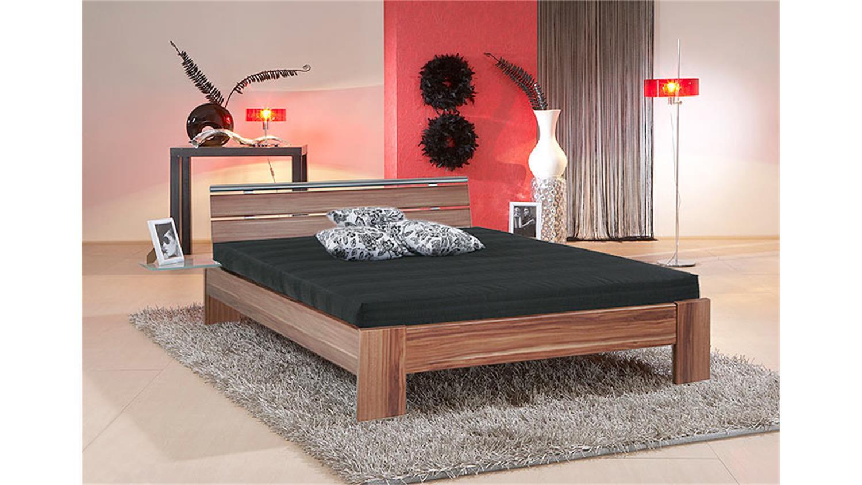 bett sleep nussbaum inkl rollrost und matratze 140x200 cm. Black Bedroom Furniture Sets. Home Design Ideas