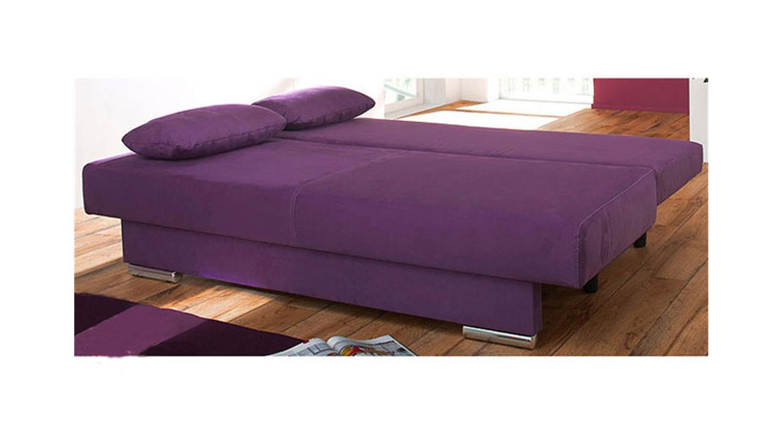 schlafsofa tiffany i modernes sofa lila inklusive 4 kissen. Black Bedroom Furniture Sets. Home Design Ideas