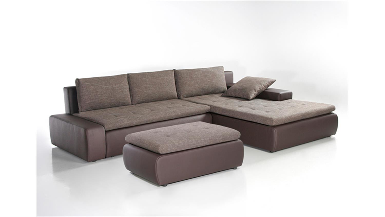 hocker alfa braun beige polsterhocker f r wohnlandschaft. Black Bedroom Furniture Sets. Home Design Ideas