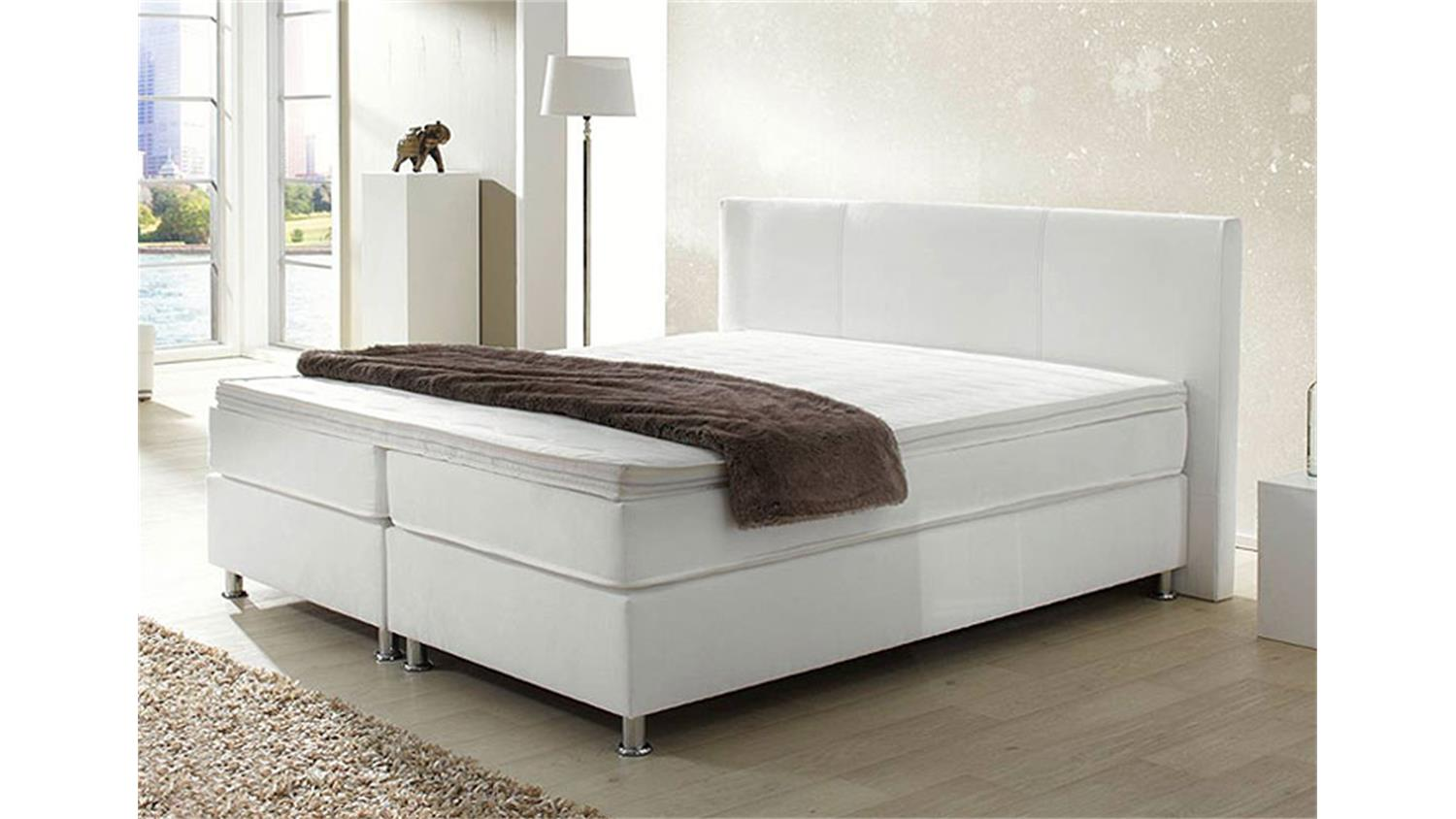 bett hyper boxspring in wei 180x200 m federkernmatratze. Black Bedroom Furniture Sets. Home Design Ideas