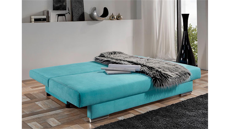 modernes schlafsofa tiffany sofa in t rkis inkl 4 kissen. Black Bedroom Furniture Sets. Home Design Ideas