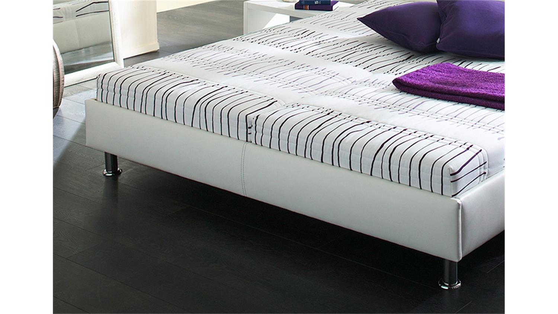 polsterbett dallas doppelbett bett in wei 140x200 cm. Black Bedroom Furniture Sets. Home Design Ideas