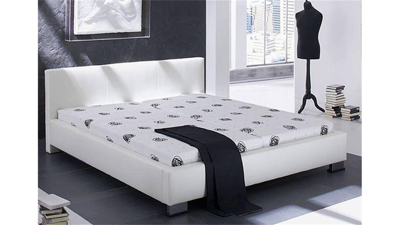polsterbett landro bett in wei mit ziern hten 160x200 cm. Black Bedroom Furniture Sets. Home Design Ideas