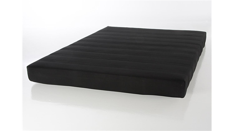 rollmatratze futonmatratze 140 x 200cm bezug schwarz. Black Bedroom Furniture Sets. Home Design Ideas