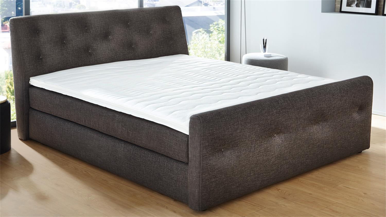 boxspringbett bellevue stoff braun 7 zonen ttfk matratze. Black Bedroom Furniture Sets. Home Design Ideas