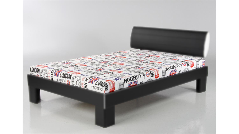 futonmatratze 140 x 200cm bezug design london. Black Bedroom Furniture Sets. Home Design Ideas