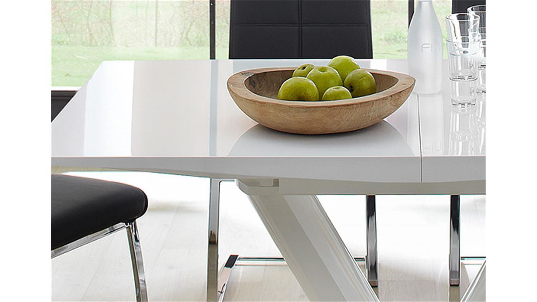 Esstisch Theben ~ Ausziehtisch Hochglanz Weiß 160×90 ~ Kreative Ideen für Ihr ZuhauseDesign