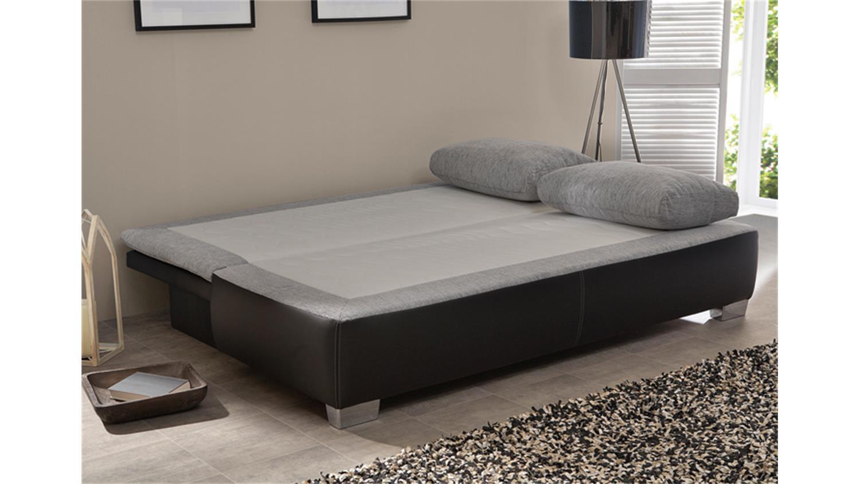 schlafsofa duett schwarz flachgewebe hellgrau produktvideo. Black Bedroom Furniture Sets. Home Design Ideas
