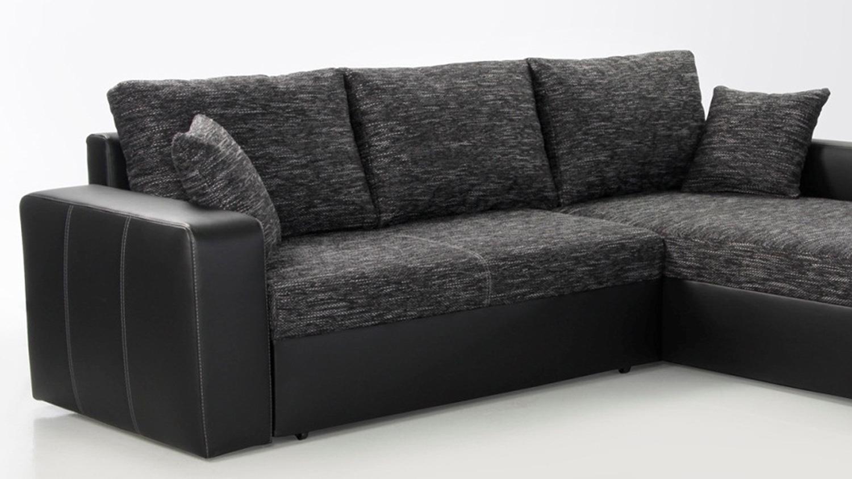 Ecksofa VIPER Sofa in schwarz anthrazit mit Bettfunktion -> Ecksofa Oder Einzelsofa