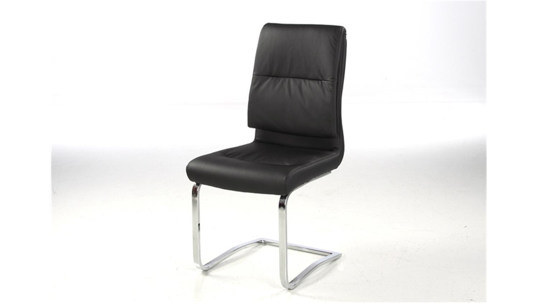 4er set schwingstuhl malte lederlook schwarz gestell chrom. Black Bedroom Furniture Sets. Home Design Ideas