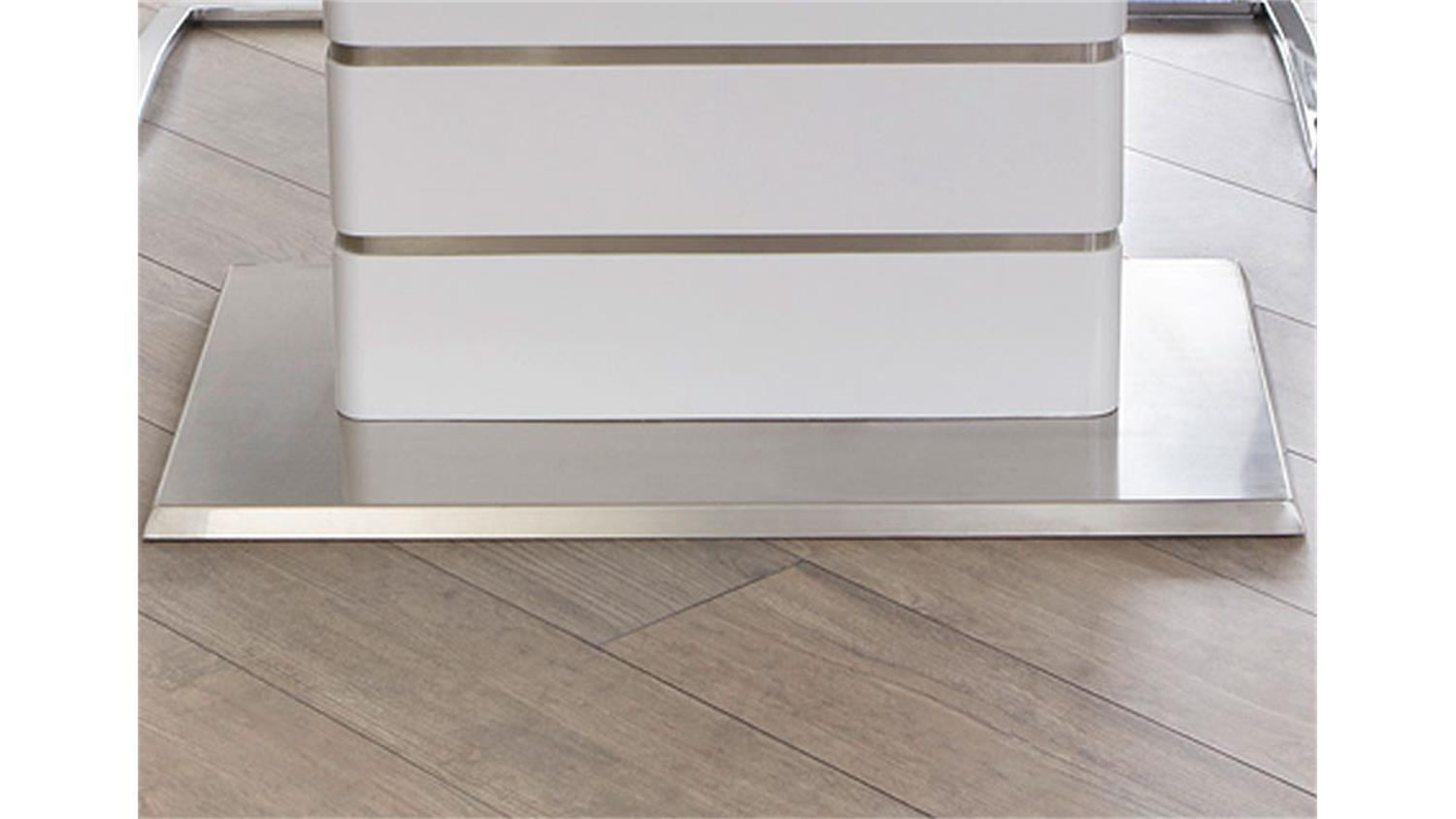 Esstisch 160 Ausziehbar alando weiß edelstahl ausziehbar 160 200x90 cm