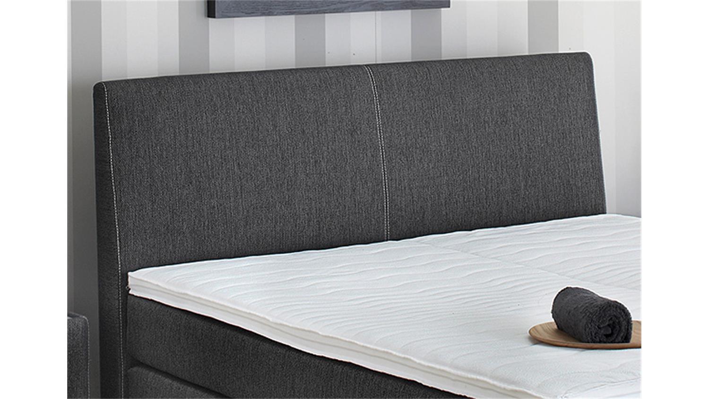boxspringbett raffinetto schwarz wei motorisiert mit topper. Black Bedroom Furniture Sets. Home Design Ideas